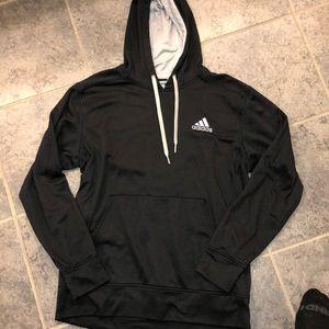 Men's black Adidas Hoodie. Large